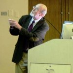 Richard H. Baltz emphasizes some interesting points during his presentation.