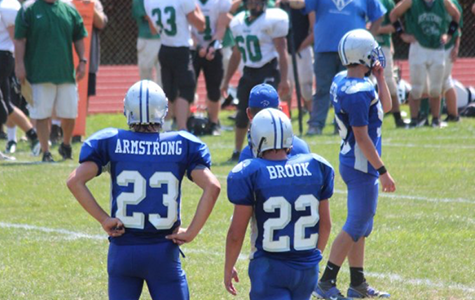Brook and Armstrong: Teammates on the gridiron since the age of 5
