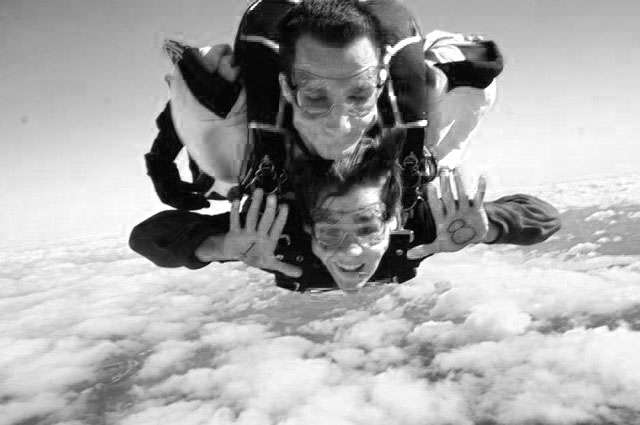 'You Do What?!' Skydiving at 120 MPH, that's what!