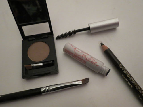 Brow powder, brow gel and brow pencils are all used to achieve perfectly groomed eyebrows.