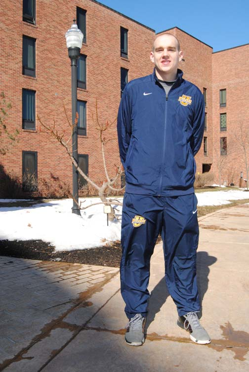 Wilkes University sophomore basketball player Steve Stravinski.