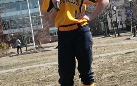 Freshman softball player Ashley Eden