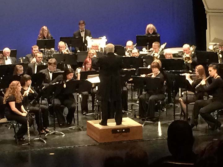 The Wilkes University Civic Band performed April 27.