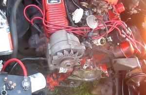 Front cover before being removed from the engine.