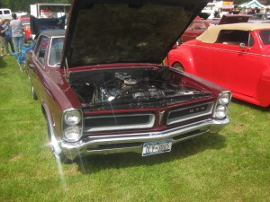 A 1966 Pontiac GTO at a car show I attended over the summer