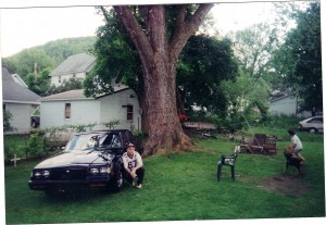 My Dad in 2000 with his 1985 Buick Regal T-Type (Fraternal twin of Grand National