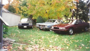 Three Buick's including the 67 GS. Taken in October of 2000