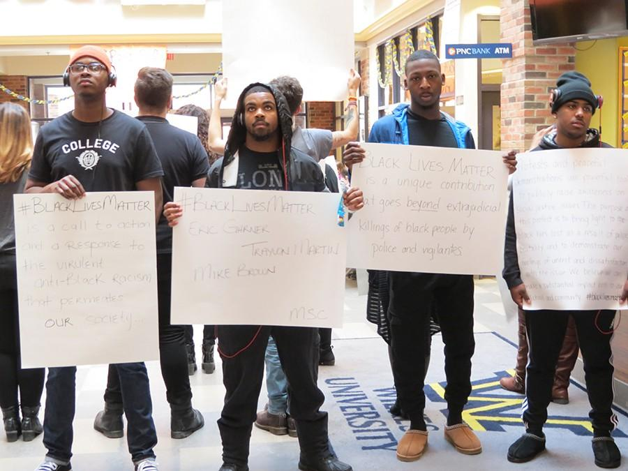 Students protest in support of Black Lives Matter movement