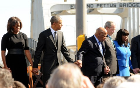 Public figures gather at the 50th Anniversary of the Selma March