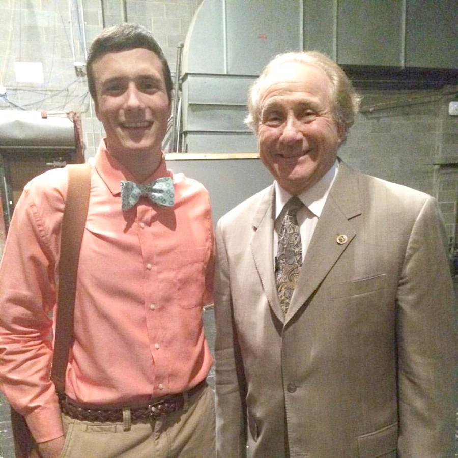 Student Government President Anthony Fanucci and Michael Reagan