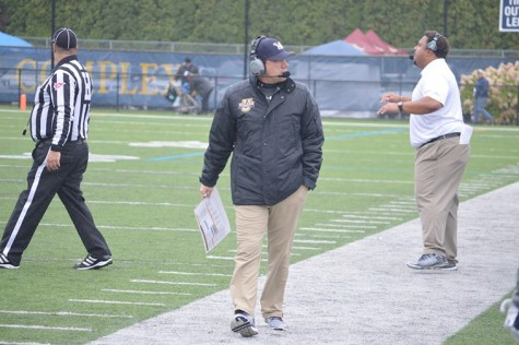 Head Coach Trey Brown looks off field in a moment of disgust.