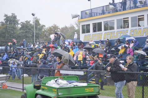 Rain and cold weather did not stop fans and alumni from supporting the Colonels and showing Wilkes spirit.