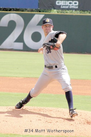 Wotherspoon aims to strike out opponent for Riverdogs at a game earlier this year.