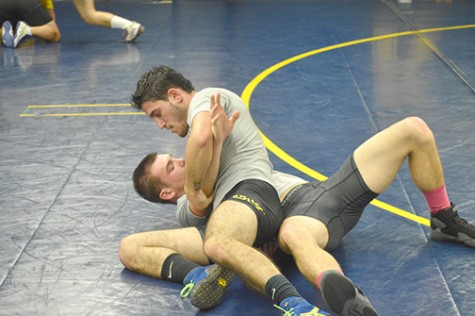 Dimarsico practices for the upcoming tournament at Kings College.