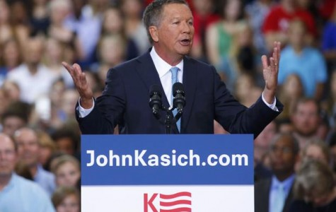 Republican U.S. presidential candidate Ohio Governor John Kasich formally announces his campaign for the 2016 Republican presidential nomination during a kickoff rally in Columbus, Ohio July 21, 2015. REUTERS/Aaron P. Bernstein