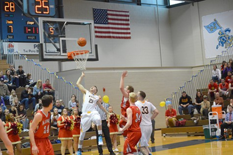 Devin Dun (#21) and Zachary Brunner (#33) looking for a rebound last week.