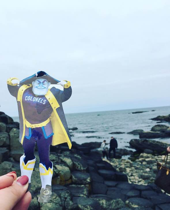 Valerie Woods was able to snap this picture of the Colonel  while at Giants Causeway in Belfast.