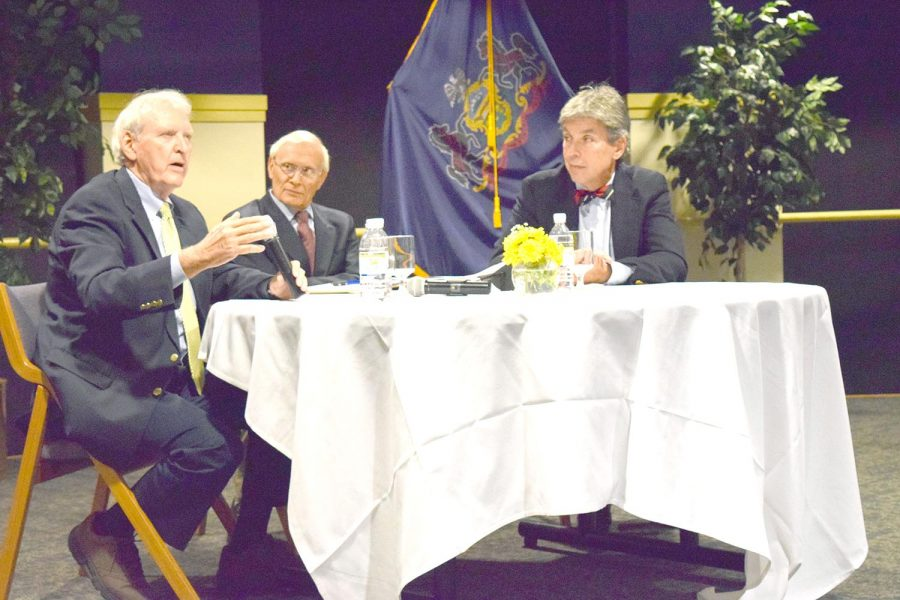 Former congressmen visit campus; advocate civic engagement