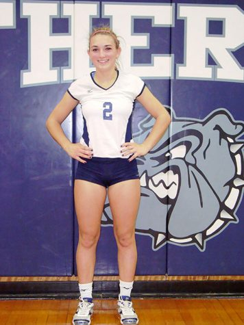 Senior Ally Paskas after a high school volleyball game at Rutherford High School.