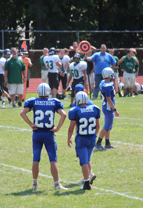 The dynamic duo takes on Friday night lights at Kittatinny Regional High School.