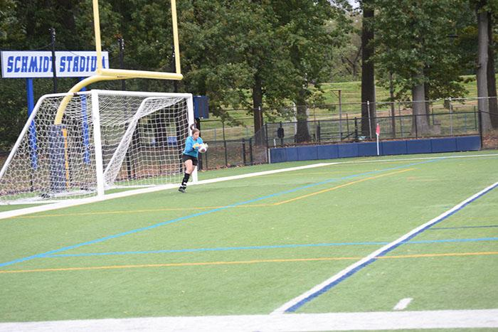 Senior goalkeeper Alyssa Young recorded five saves in the shutout against SUNY Cortland.