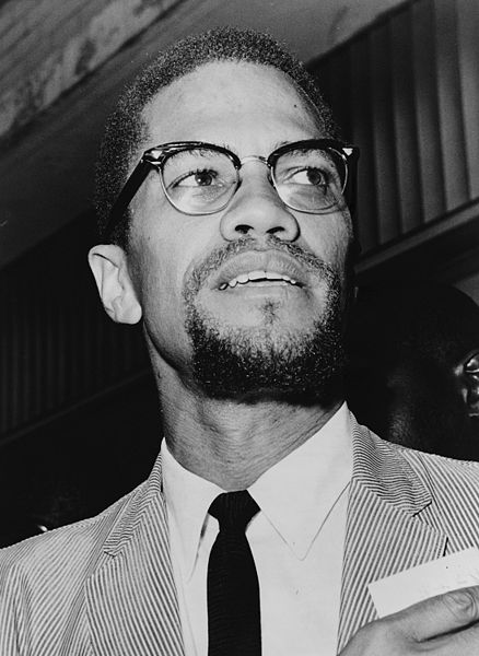 Malcolm X, an influential civil rights leader who was assassinated in New York on February 21, 1965.