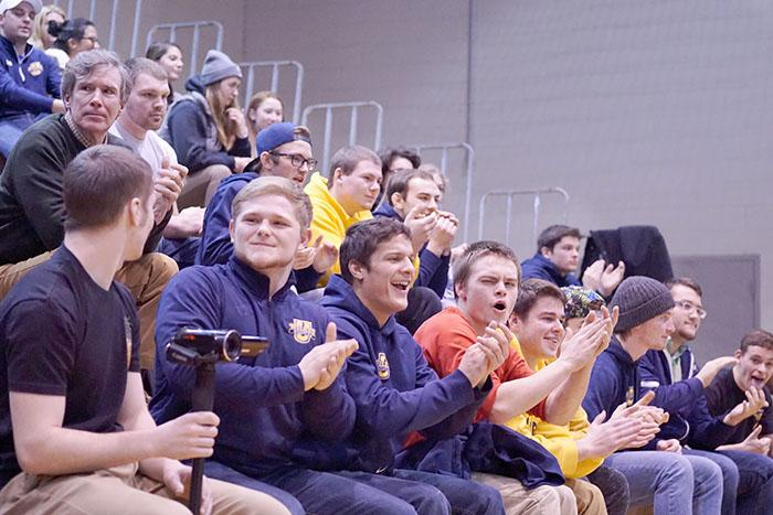 Fans were pleased to see Wilkes win their own lone home dual of the season.