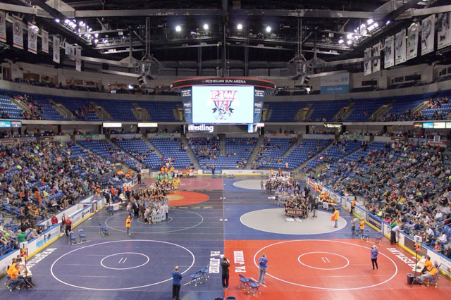 The+Pennsylvania+Junior+Wrestling+Youth+Championships+coordinate+eight+mats.