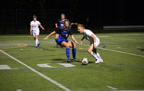 Micaela Oliverio looks upfield during the Middle Atlantic Conference Freedom championship match. Wilkes was defeated 1-0 in double overtime.