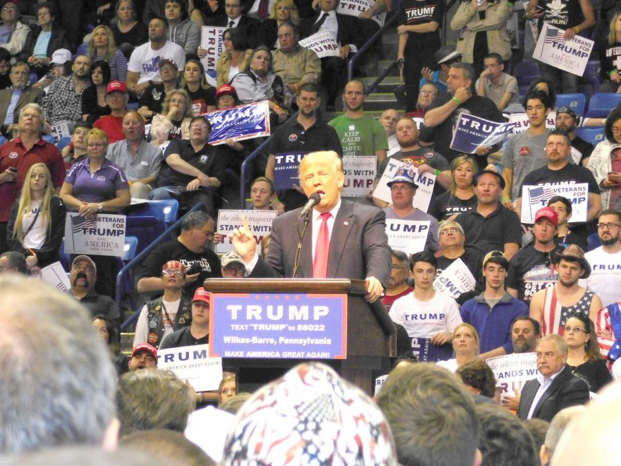 Donald+Trump+at+his+rally+in+Harrisburg+in+April+2016+while+running+for+presidency.+