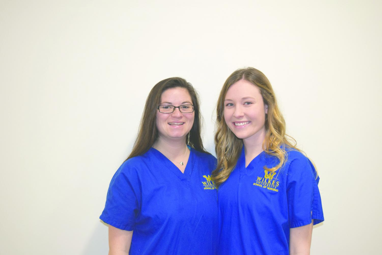 Theresa Couchara and Kim Roman, both junior nursing students, were able to help a Panamanian exchange student, utilizing their years of nursing school education.