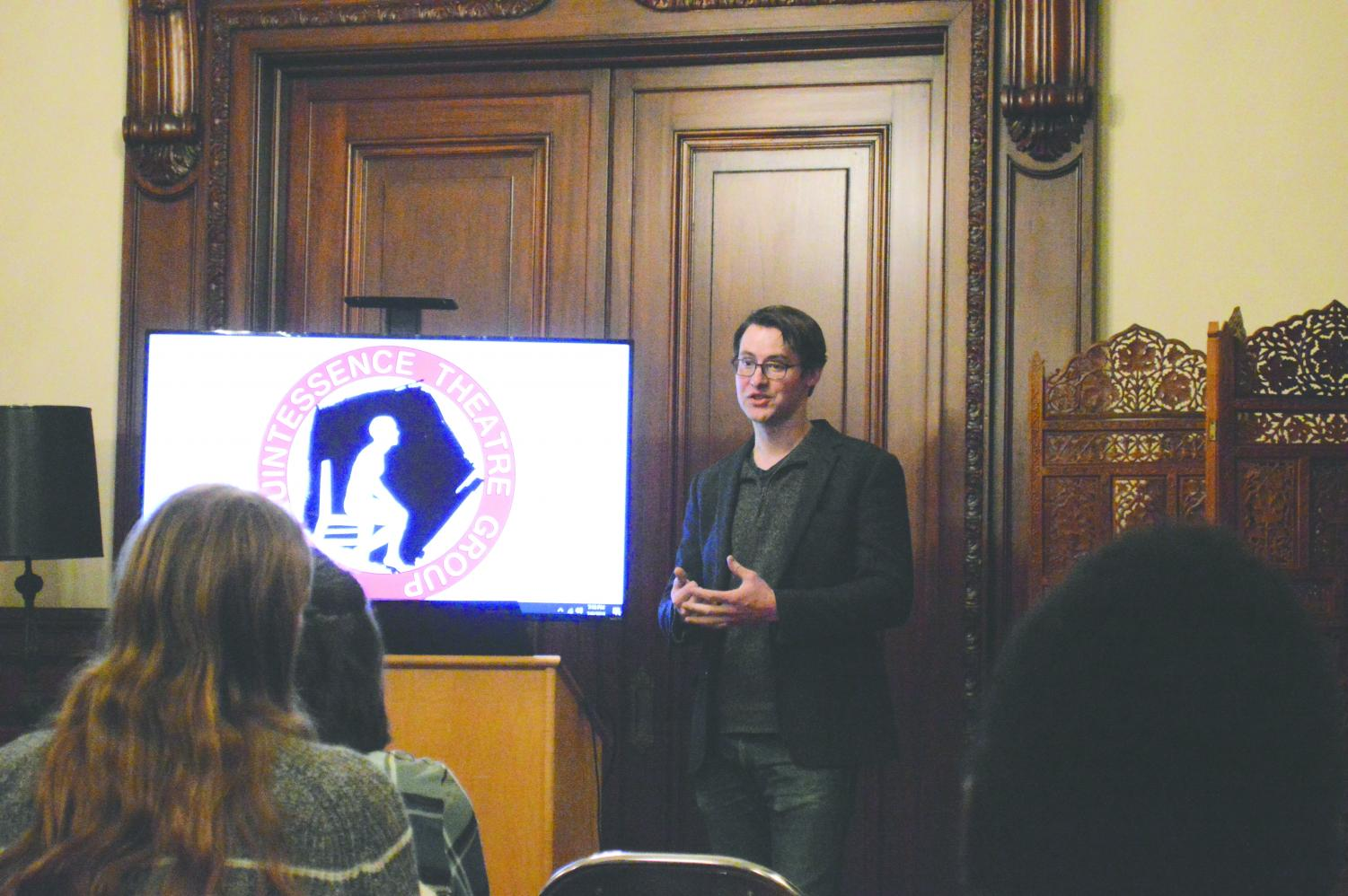 Alex Burns discussed topics such as his love for Shakespeare and writing plays.