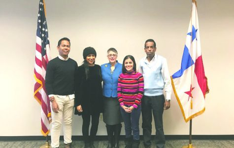 Wilkes welcomes four Panamanian diplomats