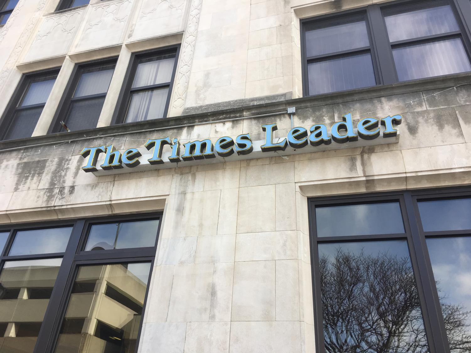 A picture of the  Times Leader building that was recently purchased by King's College.