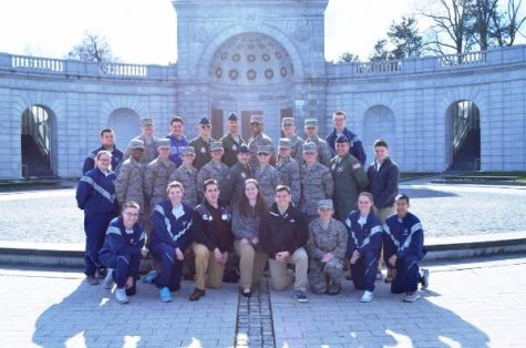 Wilkes Air Force ROTC visits Arlington National Cemetery