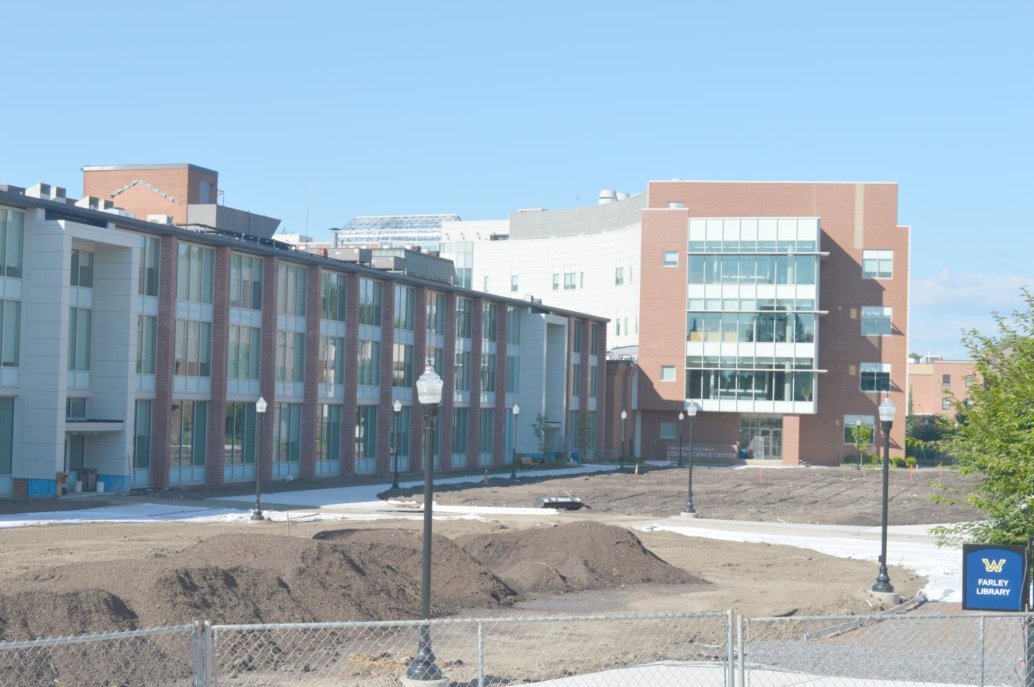 The site of the Fenner Quad during July showed dirt, rather than greenway.