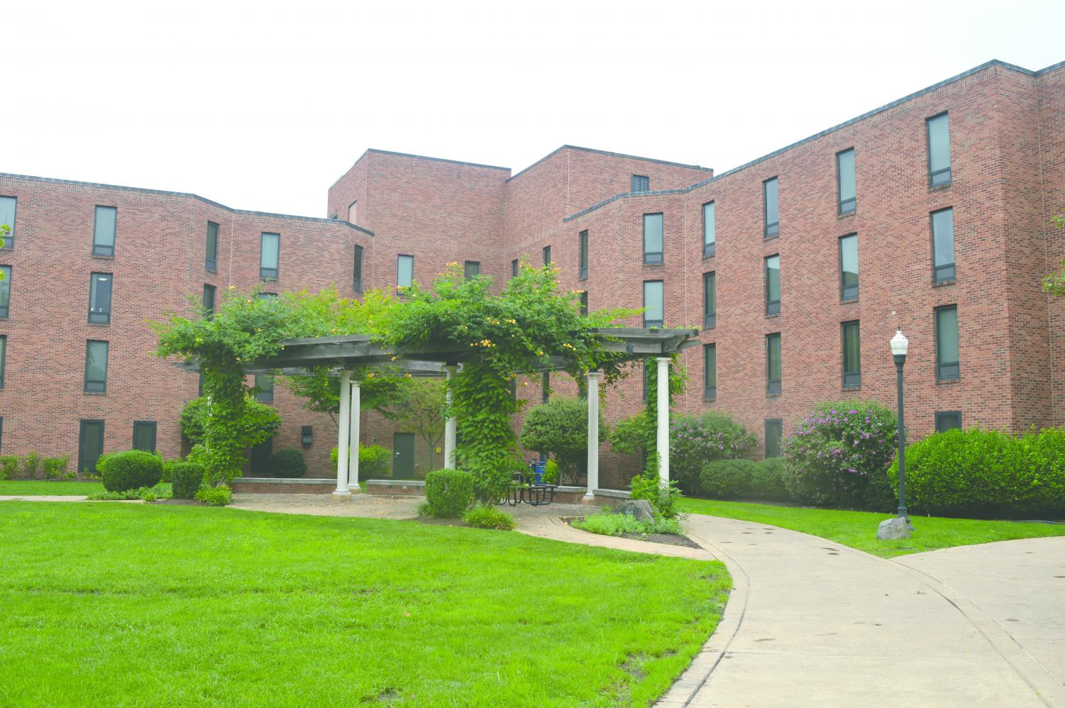 Evans Hall, a First-Year dorm which was altered to fit more students.
