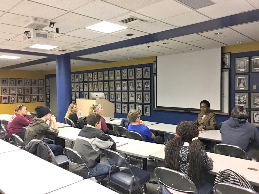 After her lecture, Stephens held a small and personal discussion with students.