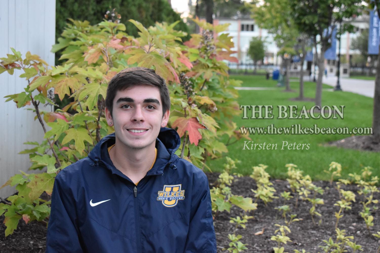 Freshman soccer player Luke Betancourt