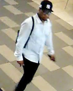 The male suspect pictured in the SUB.