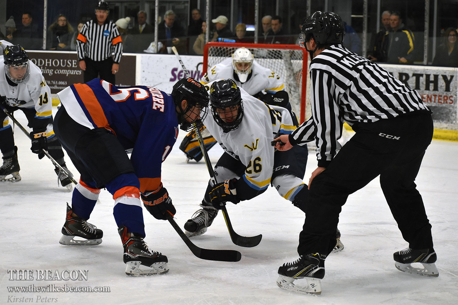 Wilkes fell to Utica College in the final four seconds of play on Dec. 7, but tied with Elmira College on Jan. 21 to secure their first place standing in the United Collegiate Hockey Conference (UCHC) over second-place Utica.