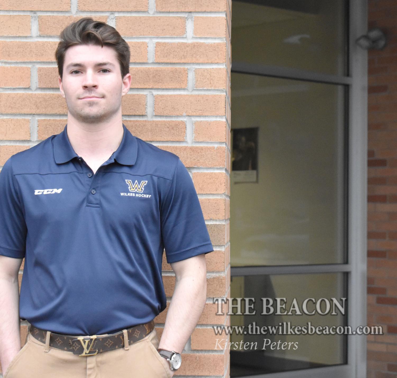 Tyler Barrow, freshman ice hockey player