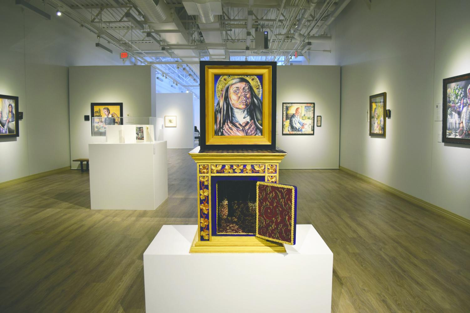 'Hildegard's Box' sits in the middle of the newest 'Sacred Sisters' exhibition .