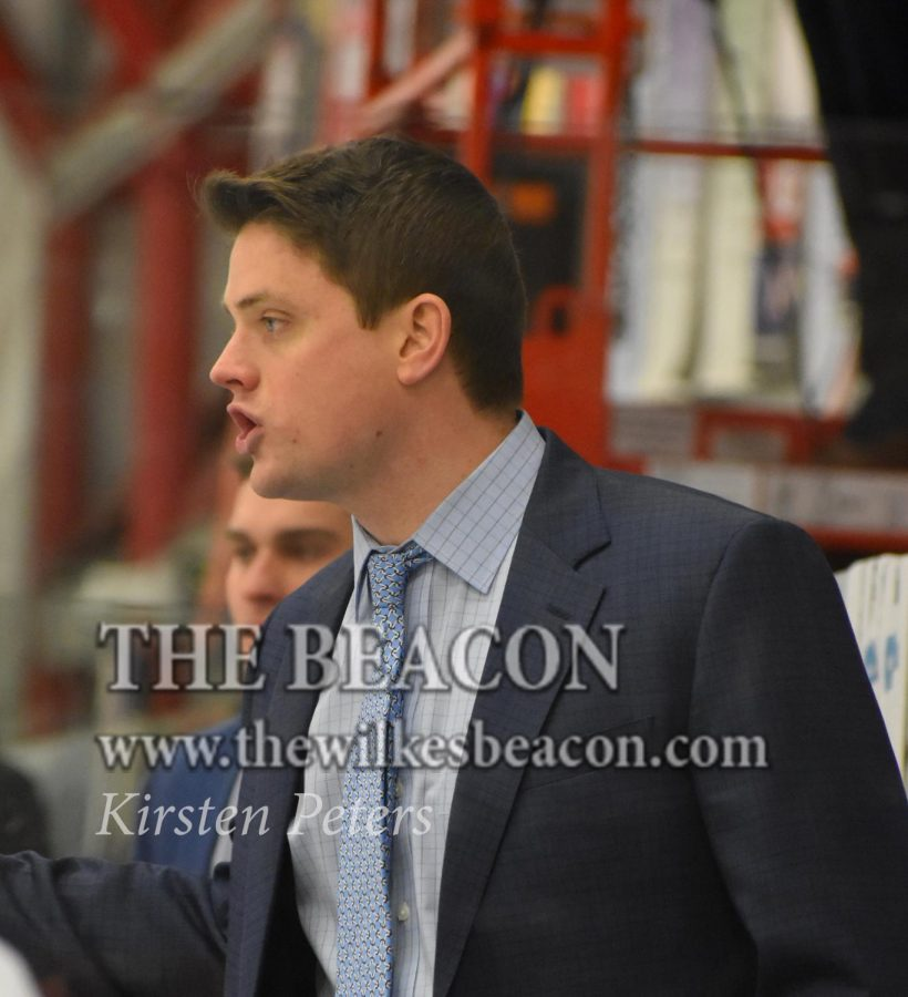 Head+coach+Brett+Riley+%28pictured+above%29+will+depart+Wilkes+University+and+begin+an+assistant+coaching+job+at+Colgate+University+for+the+2019-2020+season.