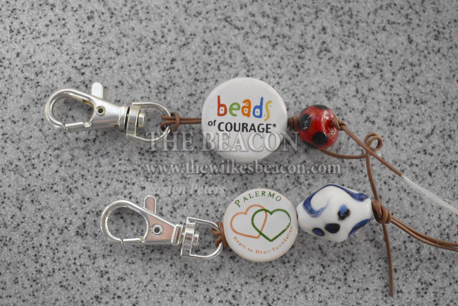 Wilkes football is participating in the Beads of Courage charity by displaying their beads on keychains or backpacks.