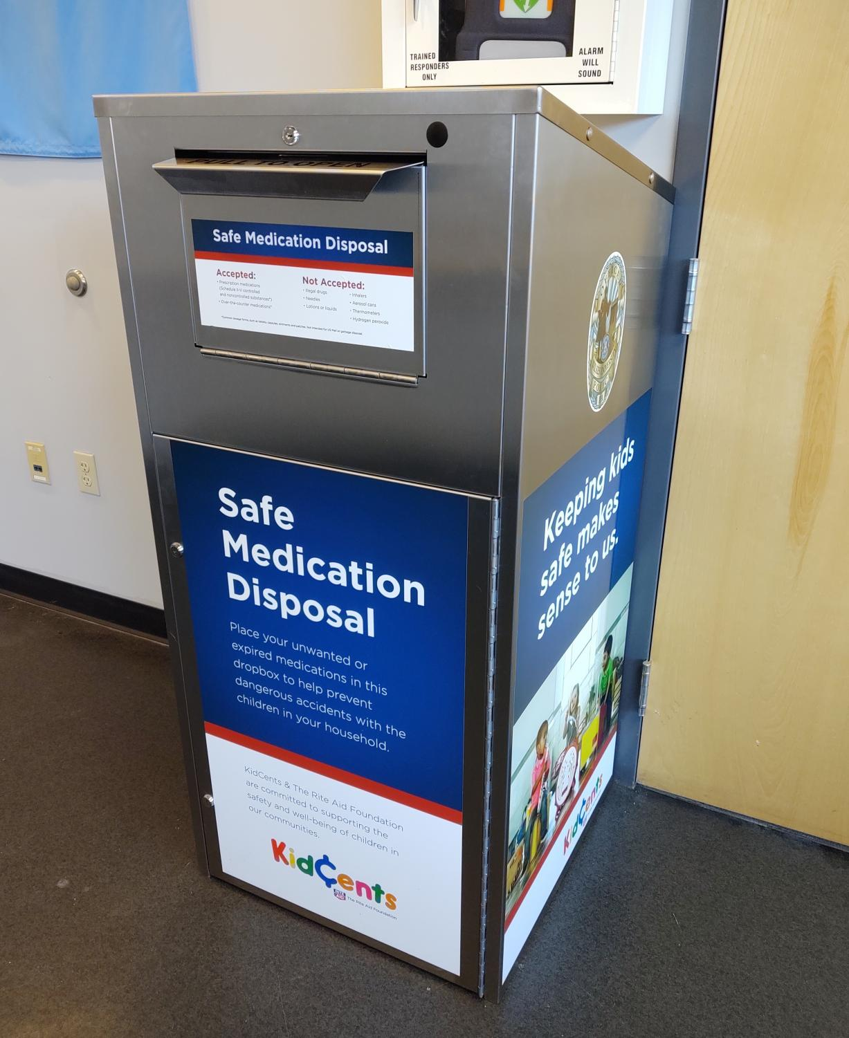 The disposal box is located in the WUPD lobby.