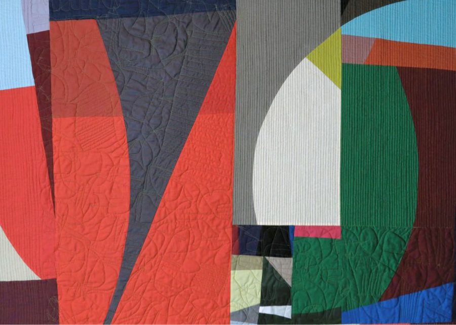 """The Quilt titled """"Habits of Being"""" by artist Elizabeth Brandt, who is one of the seven featured artists of Material Pulses."""