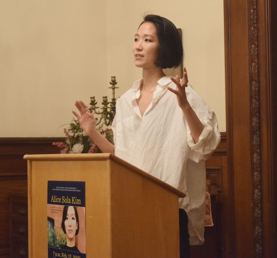 Alice Sola Kim spoke about her experience as a science fiction author writing short stories.