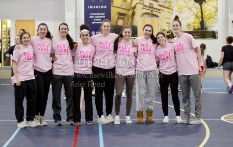 King's players, from left to right Emily Kriston, Kristen Coleman, Kayla Dillinger, Mackenzie Yori, Rebecca Prociak, Emily Morano, Samantha Rajza, Zoe Stein and Sarah Keiskell-Mann.