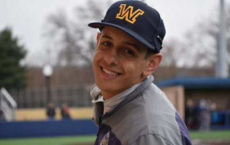 Junior Rob Iacono smiled after stepping outside of the dugout during the Colonels contest against Centenary College on Wednesday.